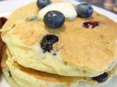 these don't look like Velvet Grill's Blueberry Wheat Germ Pancakes but they're my favorite