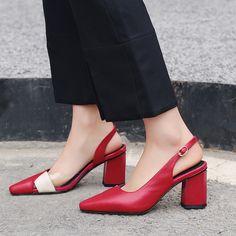 7a4a73f503d Chiko Ann Mismatched PVC Slingback Pumps Trendy Shoes