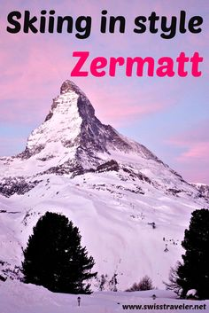 Zermatt/Switzerland: ski resort, Hotel Riffelalp & gourmet mountain restaurants