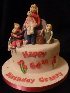 Surrounded by children – bet that was a fabulous birthday for a lucky granny.   Granny birthday cake