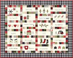 Christmas - Quilt Pattern designed by Sweetwater - Uses Overnight Delivery fabrics - finished size x - Item Hometown Christmas - Quilt Pattern designed by Sweetwater - Uses Overnight Delivery fabrics - finished size x - Item Sweet Tea Quilts! Christmas Quilt Patterns, Christmas Fabric, Christmas Quilting, Christmas Sewing, Christmas Ideas, Vintage Christmas, Merry Christmas, Christmas Blocks, Christmas Goodies