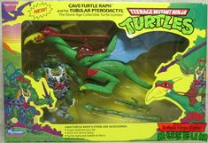 Cave-Turtle Raph with Tubular Pterodactyl