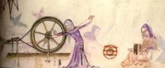 lutrell psalter ***and here's your spinning wheel!***