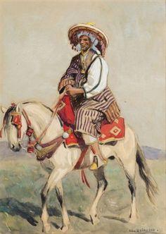 Cavalier arabe von Edouard Edmond Doigneau