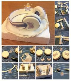 Fondant headphones tutotial