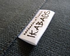 Tags for school clothes: 90 Custom Printed Fabric Labels SATIN Folded Care Label Black Printed on white Clothing Labels. $17.00, via Etsy.