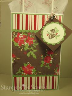 Stamp With Sandy: Holly Berry Bouquet Gift Bag