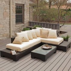 Belham Living Sheffield Sunbrella All-weather Wicker Sectional Set-seats 5