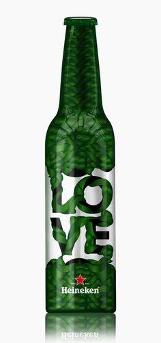 Heineken Love Beer Bottle