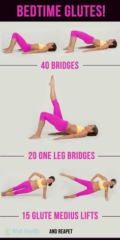 Bedtime glutes fitness exercise abs slim fit beauty health workout motivation