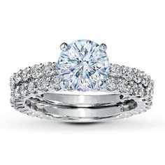 gorgeous wedding ring set by kay jewelers - Kay Jewelers Wedding Rings Sets