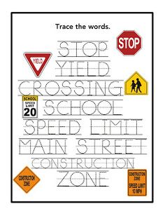 Printables Traffic Signs Worksheets all about traffic signs social studies pinterest preschool printables