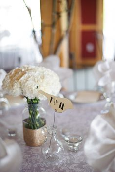 whimsical bird for wedding table numbers