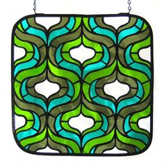Interesting stained glass pattern - considering something to filter light from the front door.