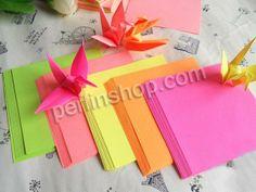 Origami Papier, Quadrat, gemischte Farben, 85x85mm, 20Packe/Gruppe, ca. 80Stücke/Pack, verkauft von Gruppe - perlinshop.com
