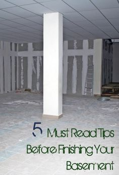 Finish basement, basement finishing tips, how to finish a basement, basement, popular pins, home improvement, DIY home improvement, easy home improvement ideas. #homeimprovements