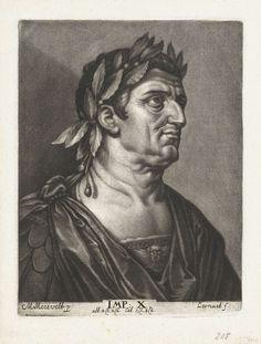 Johann Friedrich Leonard | Portret van keizer Vespasianus, Johann Friedrich Leonard, 1643 - 1680 |