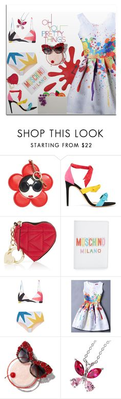 """Splats of color"" by ellenfischerbeauty ❤ liked on Polyvore featuring Alice + Olivia, Alexandre Birman, Karl Lagerfeld, Moschino, Antartidee, Mara Hoffman, Dolce&Gabbana, Charlotte Olympia, splatter and HowToWear"