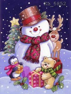 Image Library Designs Original illustrations occasions Christmas greetings cards Source by Christmas Scenes, Christmas Pictures, Christmas Snowman, Winter Christmas, Christmas Holidays, Christmas Crafts, Christmas Decorations, Christmas Ornaments, Christmas Stuff