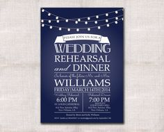 Wedding Rehearsal Dinner invitation custom printable 5x7 on Etsy, $18.00