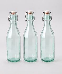 Take a look at the Faceted 17-Oz. Hermetic Bottle - Set of Three on #zulily today!