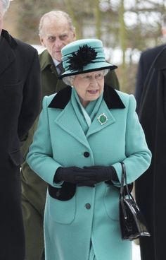 thebritishnobility: 20th January 2013: Queen Elizabeth ll and Prince Philip, Duke of Edinburgh attends Sunday Church Service  in Castle Rising, near Sandringham,England. via Tumblr