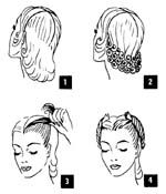 1940s how to hairstyles (other vintage styles, too!) more for ppl with short hair.. im so going to try this on Lexi lol.