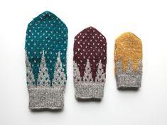 Cirkusvantar i tre storlekar – Dela dina vantar! Fair Isle Knitting Patterns, Fair Isle Pattern, Knitting Charts, Baby Knitting, Crochet Patterns, Mittens Pattern, Knit Mittens, Mitten Gloves, Knitted Hats