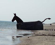 Maultier Bunker am Strand von Blavand