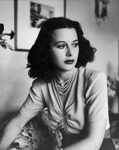 """""""Any woman can be glamorous, all you have to do is stand still and look stupid."""" Hedy Lamarr"""