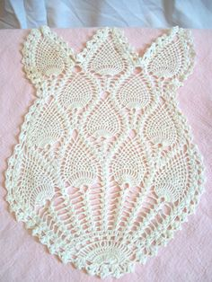 Tulip shaped doily by jclairep on Etsy, $9.00