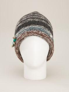 BSBEE - bead embellished beanie hat 7
