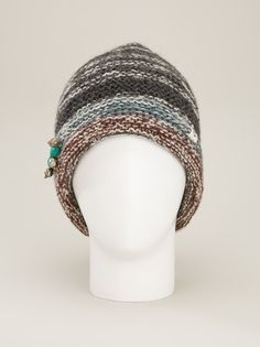BSBEE - bead embellished beanie hat 7