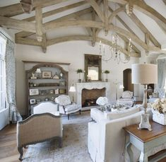 74 Gorgeous French Country Living Room Decor Ideas