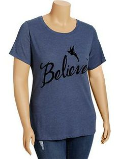 "Women's Plus Disney© Tinkerbell ""Believe"" Tees 