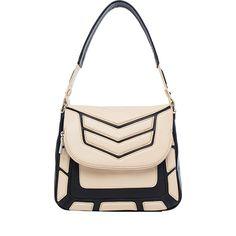 Aimee Kestenberg Maya Flap Shoulder Bag Black/Apricot