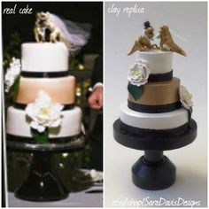 Wedding Cake Replica, Valentines Gift, Wife Gift, Romantic Gifts, Wedding Cake Ornament, Anniversary Gift, 1st Anniversary Gift by SaraDavisDesigns on Etsy https://www.etsy.com/listing/245063281/wedding-cake-replica-valentines-gift