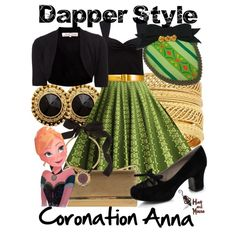 """Dapper Style Coronation Anna"" Outfit<3 by hatandmouse on Polyvore"