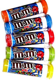 M&M's Minis Candy - Classic Chocolates -  5  filled tubes - Sweet Party Favors  #Mars