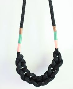 lovely braided rope necklace by weekday carnival