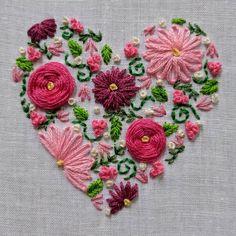 Flowery hearts.