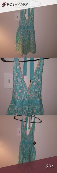 SizeL/XL Simply Envogue teal/cream Apron Beautiful In excellent pre loved condition I LOVE to BUNDLE simply envogue Other
