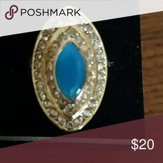 Fashion ring This gold and blue glamorous ring is a size 6 and new with tag..don't miss it! It could be a great gift for someone as well :) Jewelry Rings