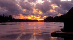 1.5.2014.Sunset, Ampersand Bay, jan 4, 2015, 430pm.