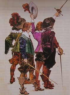 The Three Musketeers by Alexandre Dumas, illustrated by Maurice Leloir (French, 1851-1940)