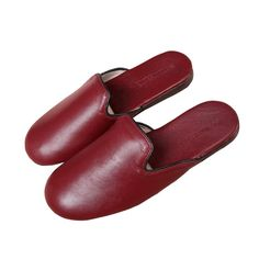 Yoga Soft Genuine Sheepskin Leather Slippers Men's Women's Lovers' House Slip on Shoes Red High Heel Shoes, Suede Shoes, Slip On Shoes, Leather Slippers, Mens Slippers, Black Leather Shoes, Suede Leather, How To Stretch Shoes, New Shoes