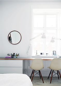 workspace, Eames chairs