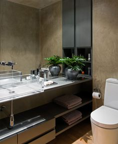 Loft Interior Design in Beige and Purple