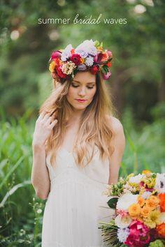 Punchy Summer Bridal Hair + Wedding Ideas