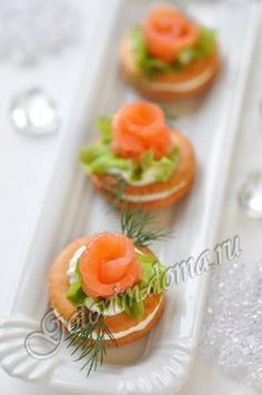 Gourmet Recipes, Cooking Recipes, Gourmet Foods, Cocktails And Canapes, Party Finger Foods, Diy Food, Food Food, Cold Meals, Appetisers